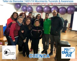 Taller de movimiento Yucando & Awarenes en Cuenca.