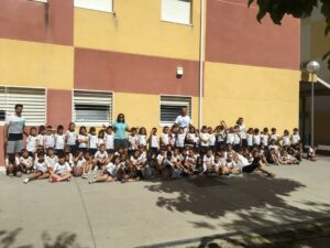 Actividad de Movimiento Consciente Yucando en colegio infantil